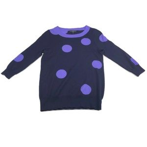 J. Crew Large Polka Dot Sweater. XS.